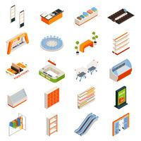 Hypermarket Furniture Objects Set vector