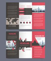 Three fold flyer template vector