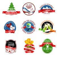 Conjunto de emblemas de cartões
