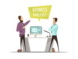 Business Analysis Cartoon Style Design
