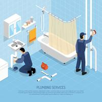 Plumber Isometric Illustration