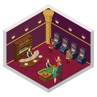 Casino Isometric Interior