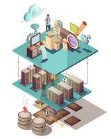 Data Analysis Isometric Concept