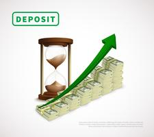 Dinero, prosperidad, negocio realista, plantilla