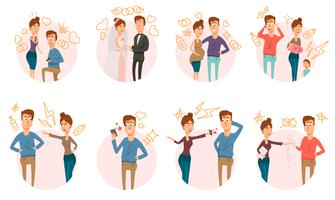 Matrimonio Divorcio Icons Collection