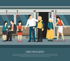 Vård för äldre illustration