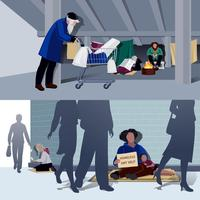 Homeless People Flat Compositions