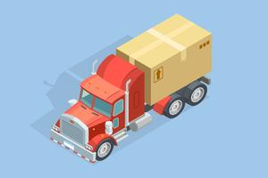 tung lastbil isometrisk mall