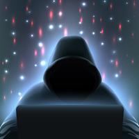 hacker dator realistisk komposition