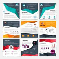 Set di modelli di volantino aziendale