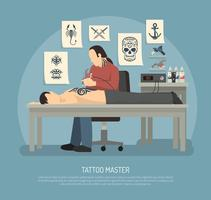 Tattoo Studio Composition vector