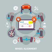 Wheel Alignment Flat Design Concept