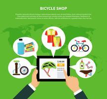 Concepto de tienda de bicicletas