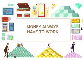 Banner horizontal de riqueza financiera
