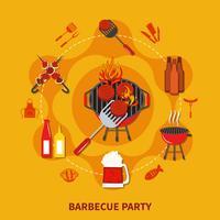 barbecue parti plat
