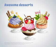 Super composition de desserts
