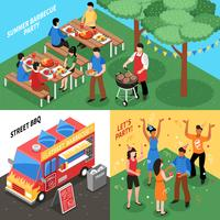 Barbecue Isometric Design Concept