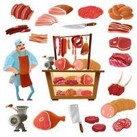 Butcher Cartoon Set