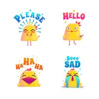 Funny Chicken Doodle Set