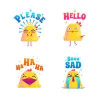 Funny Chicken Doodle Set