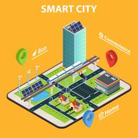 Concetto di Smart City Tablet vettore