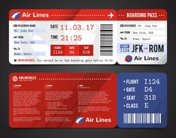 Boarding Pass Design Composition