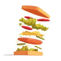 Composición de ingredientes sándwich
