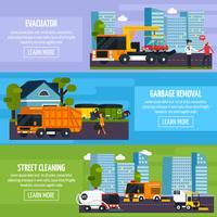 Banners horizontais planos de transporte especial