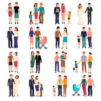 platt familjeuppsättning