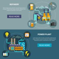 Refinery and power plant set layout vector
