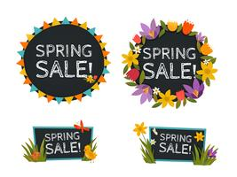 Spring Sale Chalkboard Banners