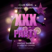 Strip Club Party Poster
