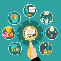 composizione rotonda del diagramma di flusso di affari