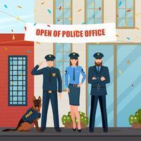 Festliche Polizeileute Zusammensetzung