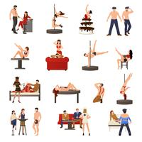 Exotic Dancer Icon Set