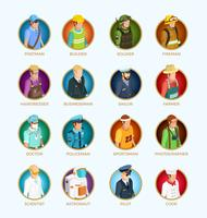 People Avatar Isometric Set