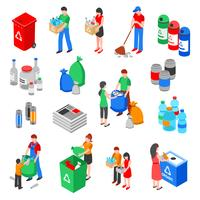 Garbage Recycling Elements Set