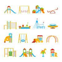 Spielplatzgeräte-Icon-Set