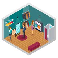Trying Shop Isometric Interior Concept