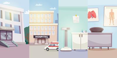 Banners verticais de medicina