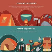 Conjunto de banner de camping