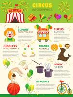 Circus infographics set