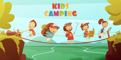 Camping Kids Background