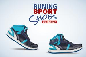 Running Sport Shoes Illustration vector