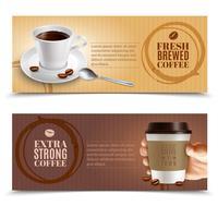 Coffee Horizontal Banners Set