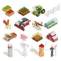 Farm Isometric Icons Collection