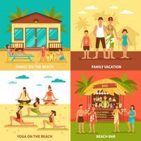 Concepto de diseño de vacaciones en la playa