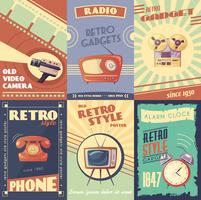 Retro Gadgets Cartoon Poster
