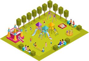 Isometrischer Kinderspielplatz