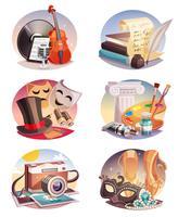 Set composizioni artistiche
